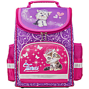 Ранец школьный ANIMAL CLUB розовый с кошкой