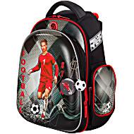 Ранец для первоклассника Hummingbird TK60 Футбол серый с мешком для обуви + пенал